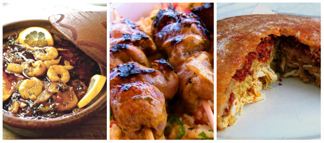Tajín, pincho moruno y pastela típicos de Marruecos - Destino y Sabor