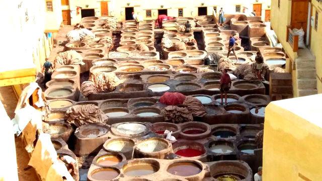 Curtidurias de Fez - Destino y Sabor