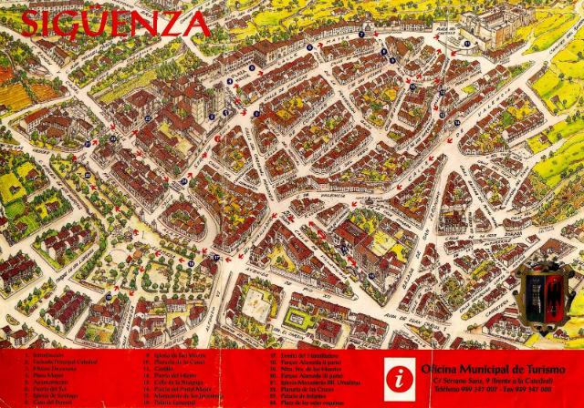 Mapa turístico de Sigüenza - Destino y Sabor