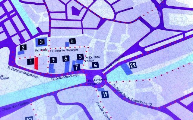 Mapa del modernismo de Aveiro - Destino y Sabor