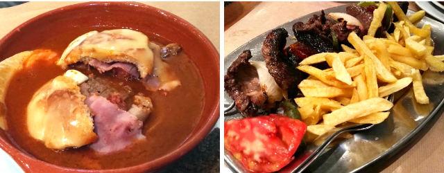 Cena en Oporto, una Francesinha y unas costillas - Destino y Sabor