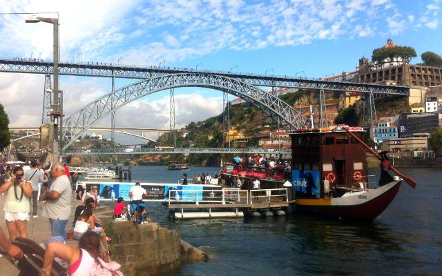 Paseo de la Ribeira do Douro con el Puente de D. Luis al fondo - Destino y Sabor