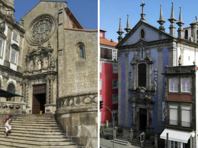 Iglesia de los Franciscanos, en estilo gótico con muchas intervenciones; y la Iglesia de San Nicolas, en estilo barroco portugués - Destino y Sabor
