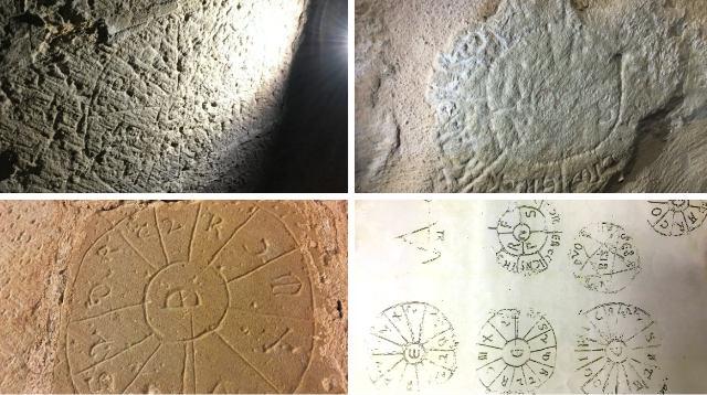 Estrañas marcas de cantero halladas en algunos muros del monasterior - Destino y Sabor