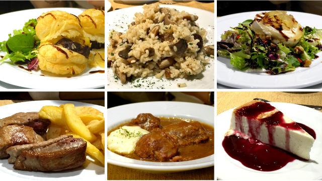 Platos elaborados en el menú del sábado en la Posada Real - Destino y Sabor