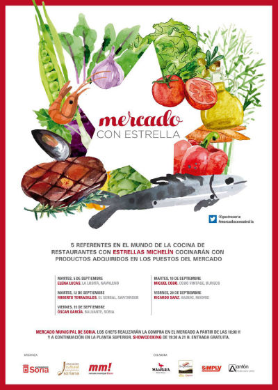 Cartel de las Jornadas Mercado con Estrellas