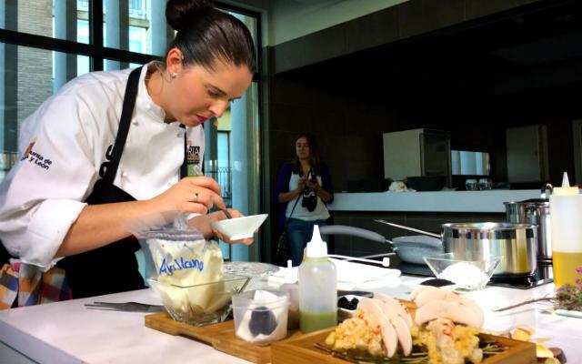 Showcooking del Rte. La Lobita - Imagen de Asociación Gastronómica de Soria