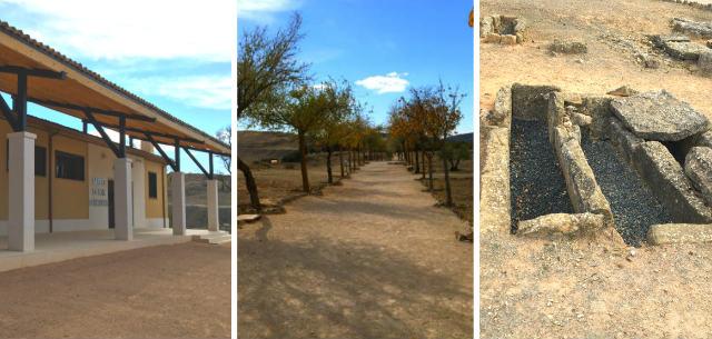 Entrada, museo del yacimiento y tumbas de la necrópolis de la ciudad - Destino y Sabor