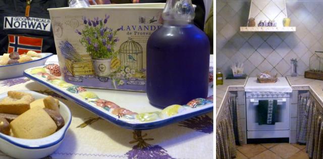 Licor y productos de Lavandin, en la casa cueva La Choza del Abuelo - Destino y Sabor