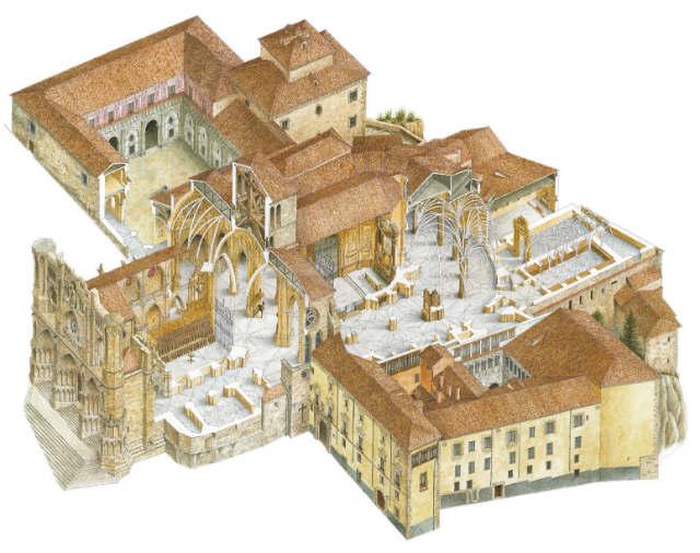 Esquema de la actual Catedral de Cuenca