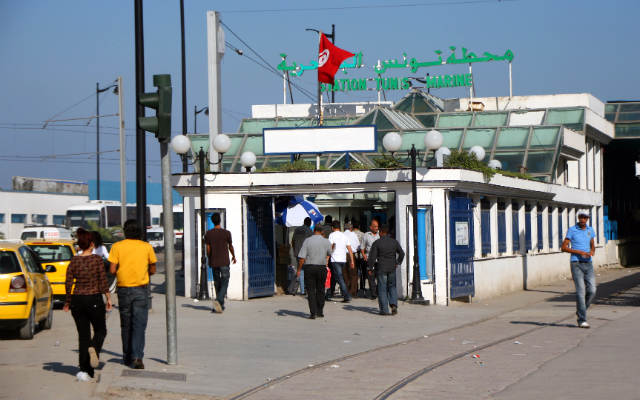 Estación de cercanias Tunis Marine