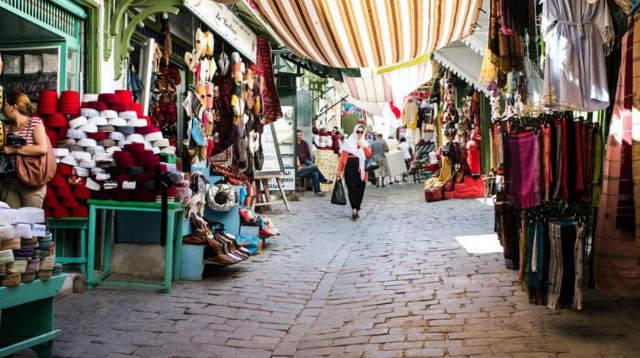 Zoco en la Medina de Túnez