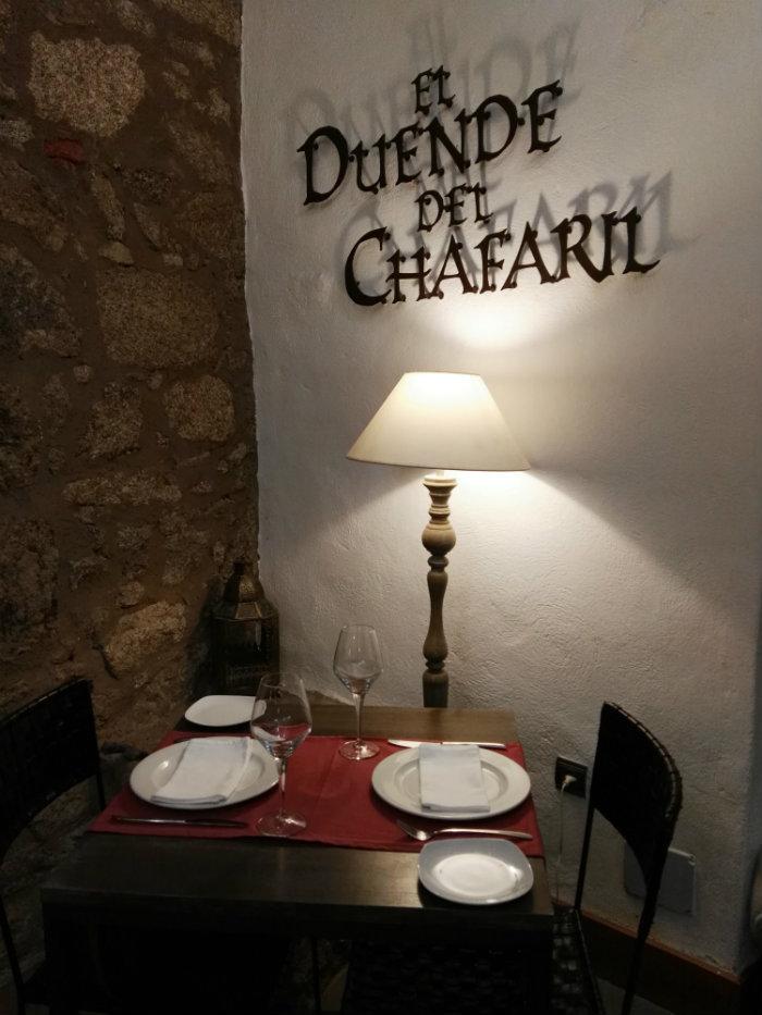 Detalle del Restaurante El Duende de Chafaril