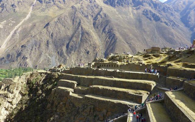 Parte alta del yacimiento de Ollantaytambo - Destino y Sabor