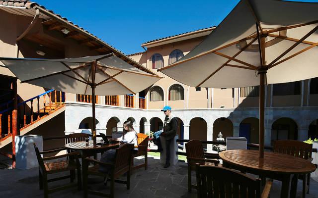 Patio del Hotel Casa Andina San Blas de Cuzco