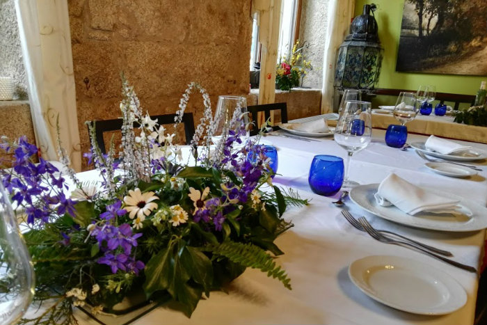 centro de mesa restaurante A Velha Fabrica