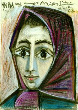 Retrato de Jaqueline - Imagen del Museo Picasso de Buitrago de Lozoya