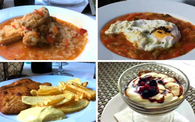Platos de menú en la Hostería Casa Palacio de Uclés - Imagen de A Tavola con il Conte