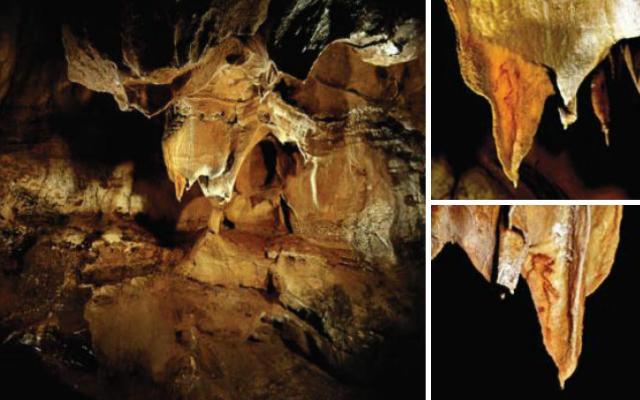 Figuras antropomorficas en una banderola - Imagen de la Cueva