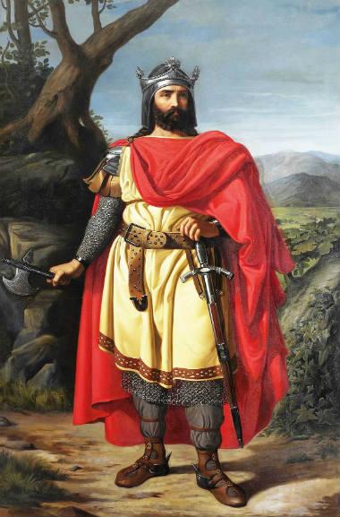 Representación de Alfonso I de Asturias - Imagen de Wikipedia