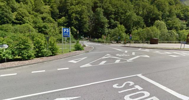 Parking disuasorio antes de llegar al Real Sitio de Covadonga