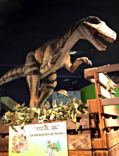 Maqueta de Velociraptor - Destino y Sabor