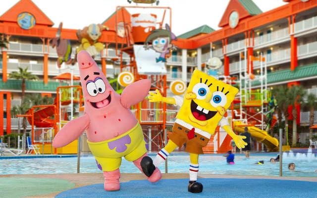 Personajes en Hotel Nickelodeon de Punta Cana