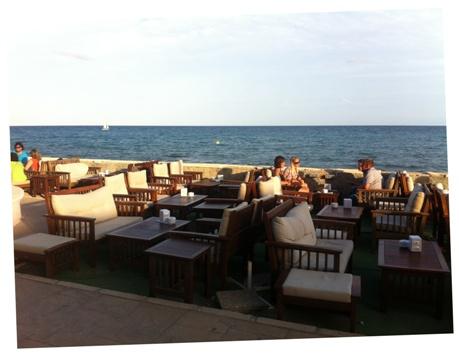 Terraza del Restaurante Las Columnas - Imagen de A tavola con il Conte