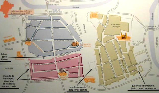 Burgos o barrios de Pamplona - Imagen de la Fundacion Lebrel Blanco