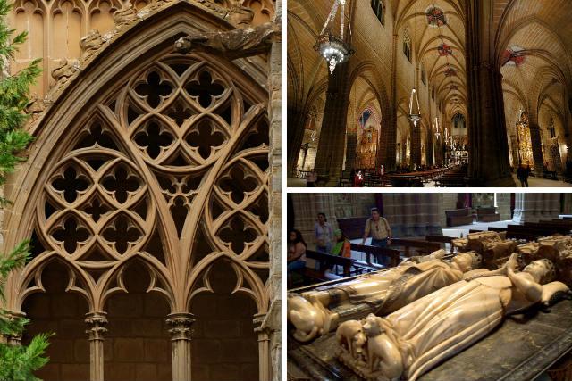 Detalles del interior de la Catedral de Pamplona - Destino y Sabor