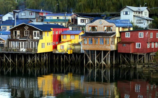 Casitas de madera de Chiloe - Imagen de Viator