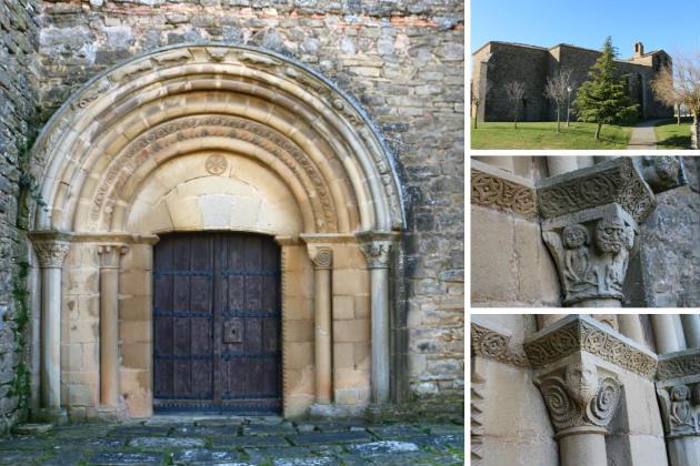 Detalles de la Iglesia de San Miguel de Olcoz - Composición de Destino y Sabor