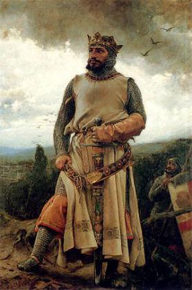 Retrato idealizado de Alfonso I el batallador, Rey de Pamplona y de Aragón - Imagen Wikipedia