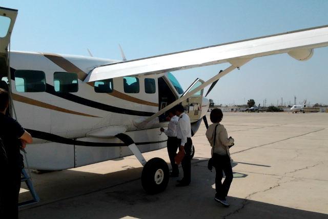 Preparados para embarcar en el vuelo sobre las líneas de Nazca - Destino y Sabor