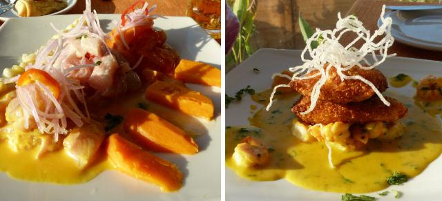 Ceviches y otros pescados en el restaurante Wayra - Destino y Sabor