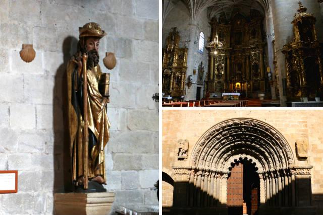 Detalles de la Iglesia de Santiago de Puente la Reina - Destino y Sabor