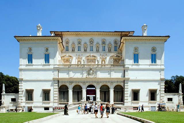 Palacio Villa Borghese Pinciana, donde se encuentra la Galeria Borghese - Destino y Sabor