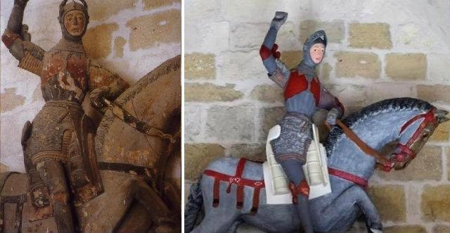 Restauración polémica del San Jorge de Estella