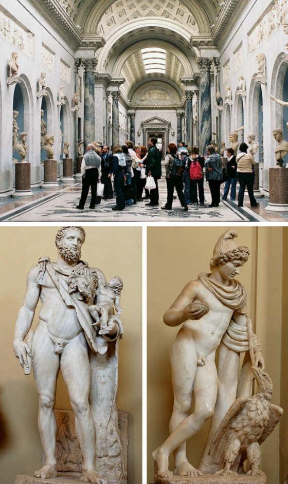 Piezas del Museo Chiaramonti - Composición de Destino y Sabor
