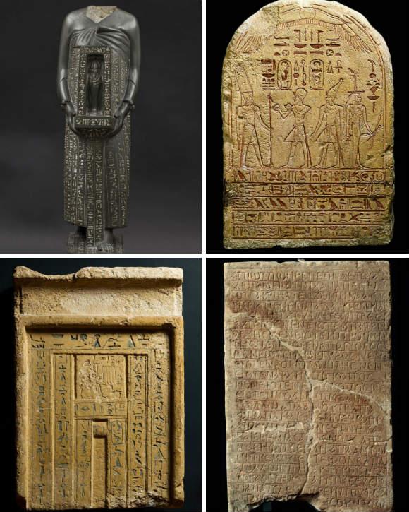 Piezas del Museo Gregoriano Egipcio- Composición de Destino y Sabor