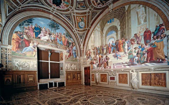 Estancias de Rafael - Estancia de la Signatura - Imagen de Museos Vaticanos