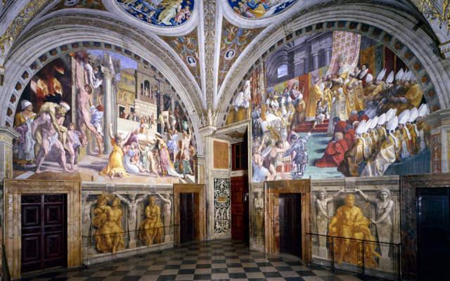 Estancias de Rafael - Estancia del Incendio del Borgo - Imagen de Museos Vaticanos