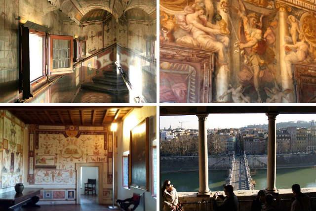 Estancias interiores del Castel Sant'Angelo - Destino y Sabor