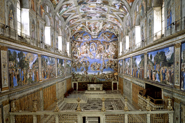 Vista general de la Capilla Sixtina - Imagen de los Museos Vaticanos