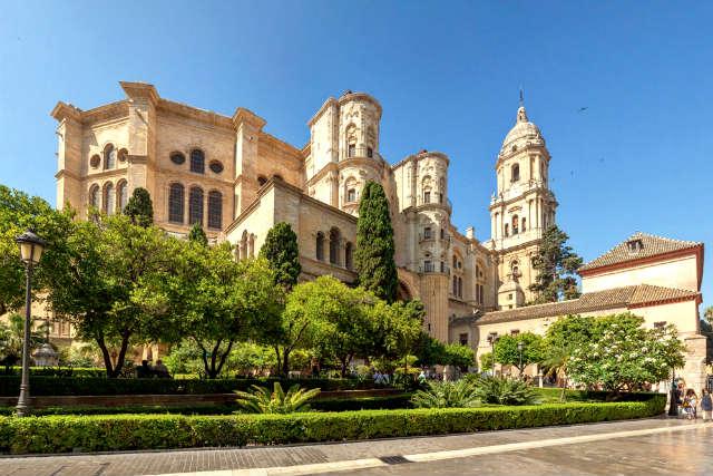 Parte posterior de la Catedral de Málaga