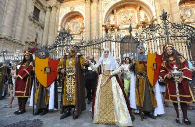 Fiestas de Málaga que recrean la conquista de la ciudad por los Reyes Católicos