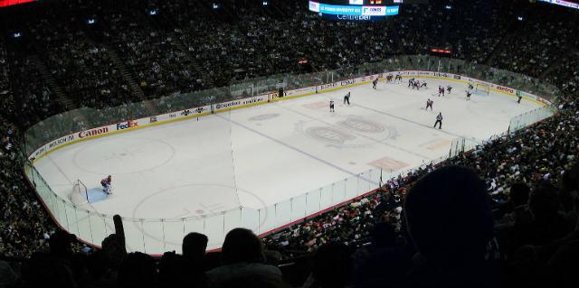 Interior del Centre Bell, sede de los Montreal Canadiens