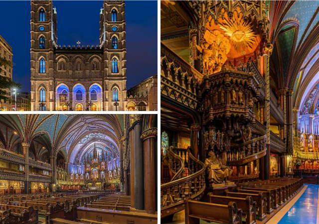 Iglesia de Nortre Dame de Montreal - Composición de Destino y Sabor