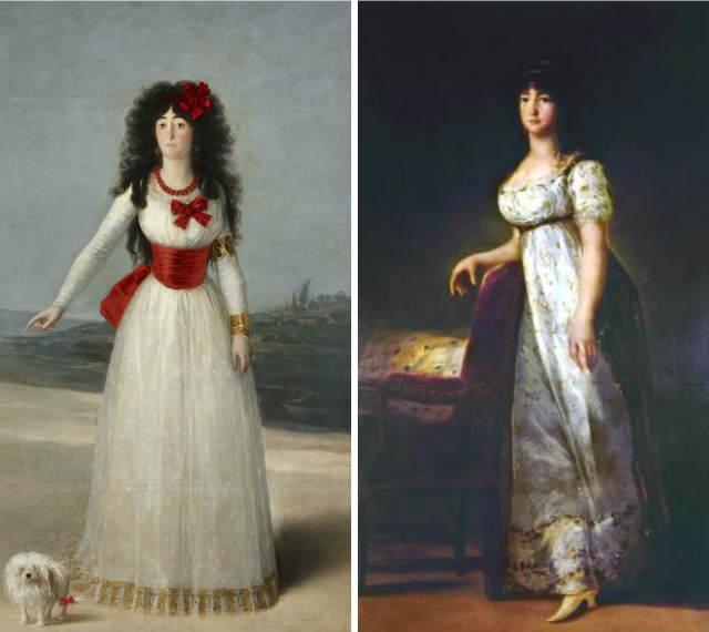Cuadros de Goya de la Duquesa de Alba y la Marquesa de Lazán - Destino y Sabor