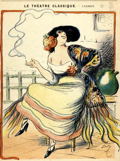 Ópera Carmen en su cartel original - Imagen de Wikipedia